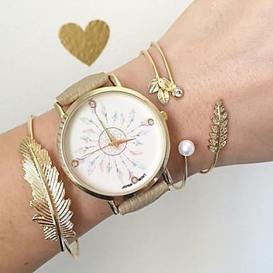 Mulheres Bracele Relógio Relógio de Moda Quartzo Venda imperdível PU Banda Amuleto Preta Cáqui