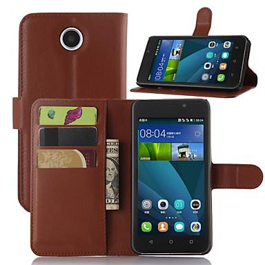 litchi rond geopend beugel lederen telefoon portemonnee kaart geschikt voor Huawei y635 (assorti kleur)