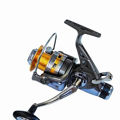 Molinetes de Pesca Molinetes Rotativos 5.2:1 Relação de Engrenagem+10 Rolamentos Trocável Pesca de Mar Rotação Pesca de Água Doce Pesca