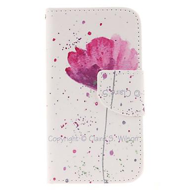 Para Samsung Galaxy Capinhas Porta-Cartão / Carteira / Com Suporte / Flip Capinha Corpo Inteiro Capinha Flor Couro PU Samsung Core Prime