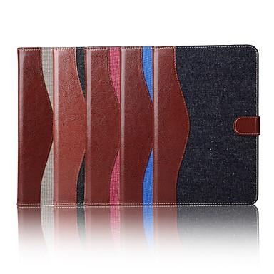 7.9 inch gemengde kleur patroon canvas portemonnee lederen tas met standaard voor de iPad mini 4 (verschillende kleuren)