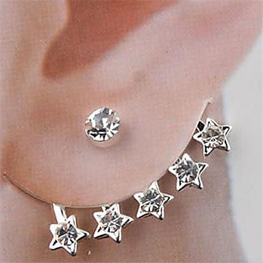 Γυναικεία Κουμπωτά Σκουλαρίκια Κρύσταλλο Στρας Κράμα Κοσμήματα Γάμου Πάρτι Καθημερινά