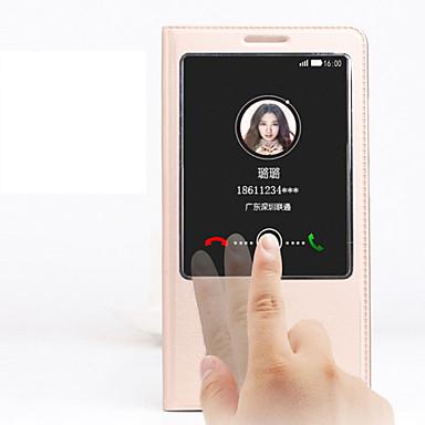 Capinha Para Huawei Huawei Companheiro 7 Capinha Huawei Com Suporte com Visor Flip Capa Proteção Completa Côr Sólida Rígida PU Leather