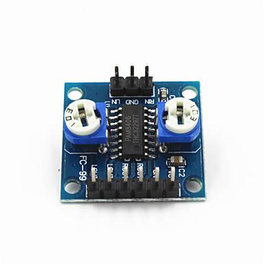 2 x 5W pam8406 placa amplificador digital w volume de potenciômetro amplificador / ruído estéreo