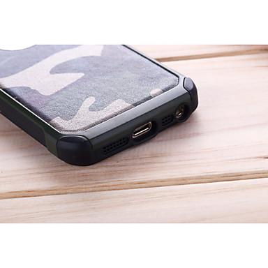 voordelige iPhone 5 hoesjes-hoesje Voor iPhone 5 / Apple iPhone SE / 5s / iPhone 5 Schokbestendig Achterkant Effen / Camouflage Kleur Hard PC