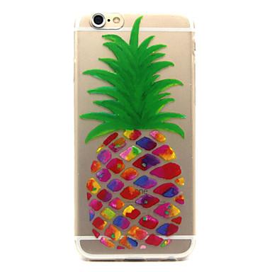Voor iPhone 6 iPhone 6 Plus Hoesje cover Transparant Patroon Achterkantje hoesje Fruit Zacht TPU voor iPhone 7 Plus iPhone 7 iPhone 6s