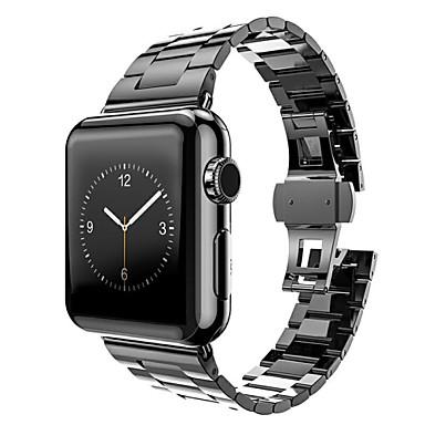 Παρακολουθήστε Band για Apple Watch Series 3 / 2 / 1 Apple πεταλούδα πόρπης Ανοξείδωτο Ατσάλι Λουράκι Καρπού