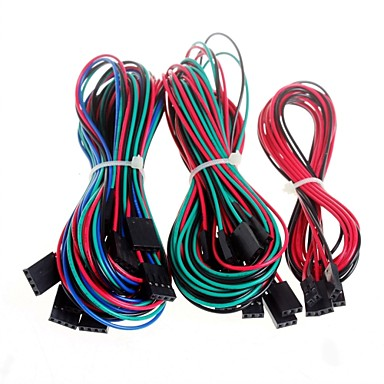 Недорогие Аксессуары для 3D-принтеров-14pcs полные Соединительный кабель для принтера RepRap 3D пандусы 1.4 концевые ограничители термисторы двигателя