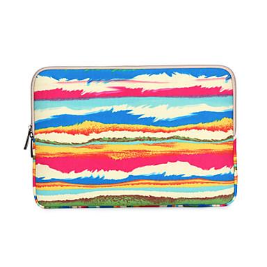 mangas de cobertura do arco-íris impressão de tarja laptop caso shakeproof para macbook pro / pro retina 13
