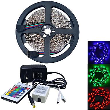 JIAWEN® 5 M 300 3528 SMD RGB Cortável / Conetável 25 W Faixas de Luzes LED Flexíveis AC100-240 V