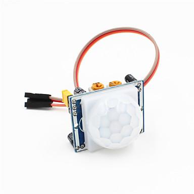 pyroelectric pir motion detector módulo sensor infravermelho w / cabo de 3 pinos para arduino - azul + branco