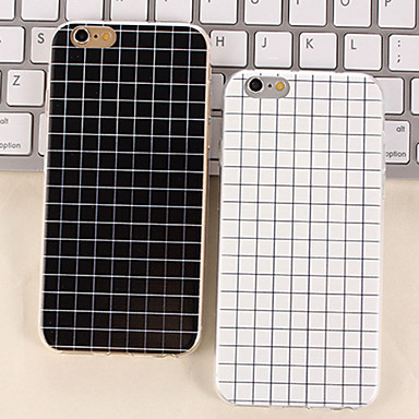 de eenvoudige zwart-witte kleur kleine rooster TPU gevallen mat voor iPhone 6 plus / iphone 6s plus (verschillende kleuren)