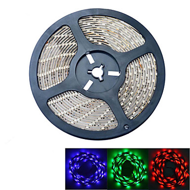JIAWEN® 5 M 300 5050 SMD RGB Waterdicht 60 W Flexibele LED-verlichtingsstrips DC12 V