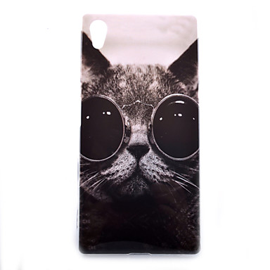 For Sony Case Xperia Z5 Cover Pattern Back Cat Soft TPU Compact E4 4321233 2018 399