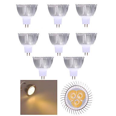 10 stuks 3W 250lm MR16 LED-spotlampen 3 LED-kralen Krachtige LED Decoratief Warm wit / Koel wit 12V