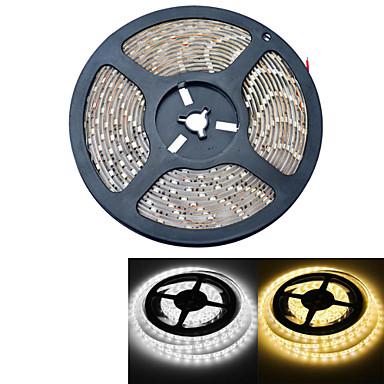 5M Flexibele LED-verlichtingsstrips 300 LEDs Warm wit / Wit Waterbestendig 12V
