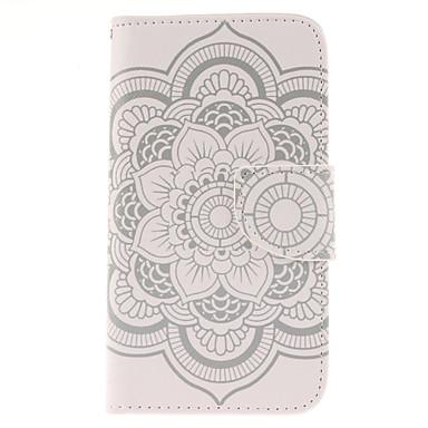 padrão de flores carteira de couro pu capinha de corpo inteiro com suporte para Samsung Galaxy j5
