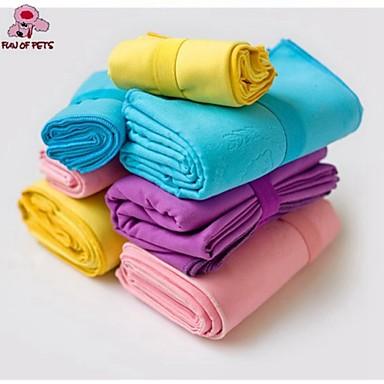 Hond Handdoeken Doekjes draagbaar Cosplay Paars Geel Blauw Roze