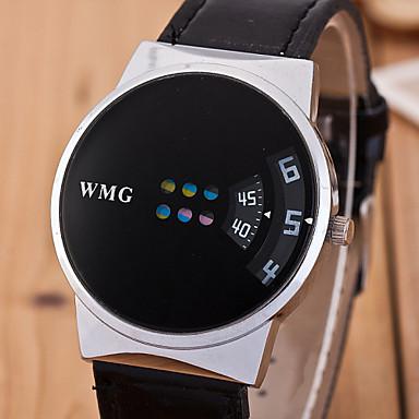 Masculino Relógio de Pulso Quartzo PU Banda Branco Preto