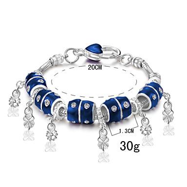 Dames Bedelarmbanden Verzilverd Liefde Marine Blauw Sieraden Voor Dagelijks Causaal 1 stuks