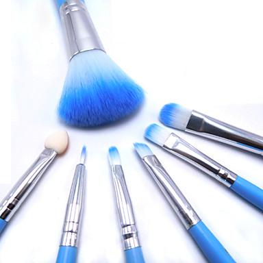 6 Blushkwast / Oogschaduwkwast / Lippenkwast / Wenkbrauwkwast / Eyelash Brush / Poederkwast / Aanbrengspons Synthetisch haarProfessioneel