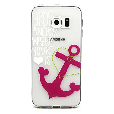 Para Samsung Galaxy Capinhas Case Tampa Estampada Capa Traseira Capinha Âncora PUT para Samsung Galaxy S6 edge plus S6 edge S6 S5 Mini S5