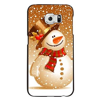 Para Samsung Galaxy Capinhas Estampada Capinha Capa Traseira Capinha Natal PC Samsung S6