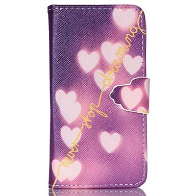 Για Samsung Galaxy Θήκη Θήκη καρτών / Πορτοφόλι / με βάση στήριξης / Ανοιγόμενη tok Πλήρης κάλυψη tok Καρδιά Συνθετικό δέρμα SamsungS6