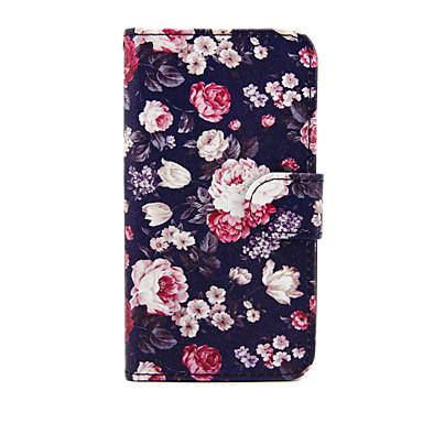Para Samsung Galaxy Capinhas Carteira / Porta-Cartão / Com Suporte / Flip Capinha Corpo Inteiro Capinha Flor Couro PU SamsungS5 Mini / S4