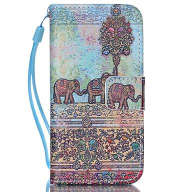 olifant patroon pu lederen telefoon geval voor iphone 5c iphone gevallen