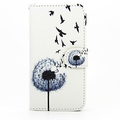 Para Samsung Galaxy Capinhas Carteira / Porta-Cartão / Com Suporte / Flip Capinha Corpo Inteiro Capinha Dente de Leão Couro PU SamsungS7