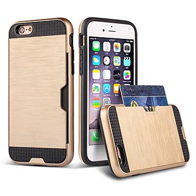 Voor iPhone 8 iPhone 8 Plus iPhone 6 iPhone 6 Plus Hoesje cover Kaarthouder Schokbestendig Achterkantje hoesje Schild Hard TPU voor Apple