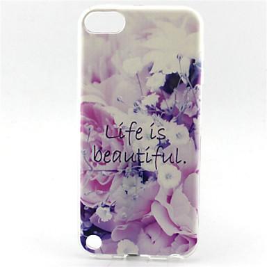 flor elevador é belo padrão pintura TPU soft case para o iPod touch 5