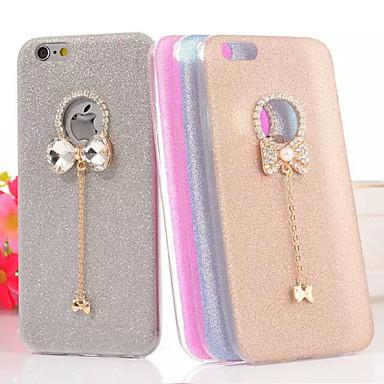 Para Capinha iPhone 5 Com Strass Capinha Capa Traseira Capinha Brilho com Glitter Macia TPU iPhone SE/5s/5