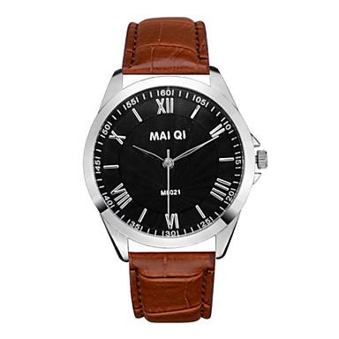 Χαμηλού Κόστους Ανδρικά ρολόγια-Ανδρικά Ρολόι Καρπού Χαλαζίας Δέρμα Hot Πώληση Αναλογικό Φυλαχτό Απλός ρολόι - Κόκκινο Ανοικτό Καφέ Σκούρο καφέ
