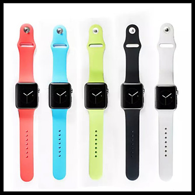voordelige Smartwatch-accessoires-Horlogeband voor Apple Watch Series 5/4/3/2/1 Apple Sportband Silicone Polsband