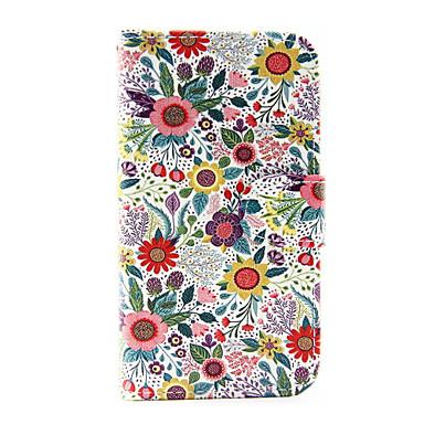 Case Kompatibilitás Samsung Galaxy Samsung Galaxy tok Kártyatartó Pénztárca Állvánnyal Flip Héjtok Virág PU bőr mert J5 (2016) J1 (2016)