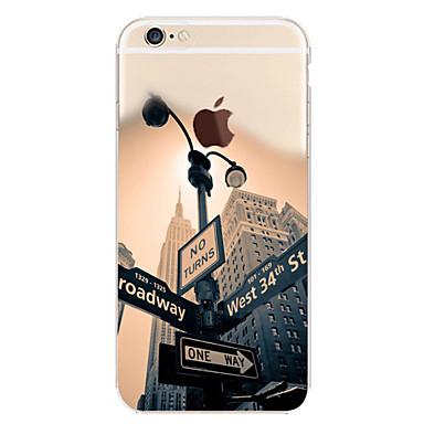 voordelige iPhone 6 hoesjes-hoesje Voor Apple iPhone 7 Plus / iPhone 7 / iPhone 6s Plus Patroon Achterkant Landschap / Uitzicht op de stad Zacht TPU