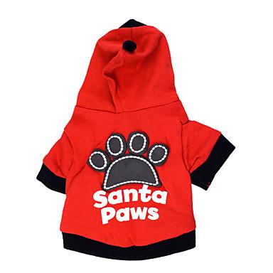 고양이 강아지 후드 강아지 의류 문자와 숫자 블랙 레드 면 코스츔 애완 동물 남성용 여성용 패션