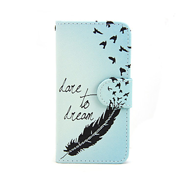 tok Για Apple Θήκη iPhone 5 Θήκη καρτών Πορτοφόλι με βάση στήριξης Ανοιγόμενη Με σχέδια Πλήρης Θήκη Φτερά Σκληρή PU δέρμα για iPhone 7