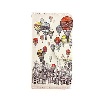 Voor iPhone 5 hoesje Portemonnee / met standaard / Flip hoesje Volledige behuizing hoesje Ballon Hard PU-leer iPhone SE/5s/5