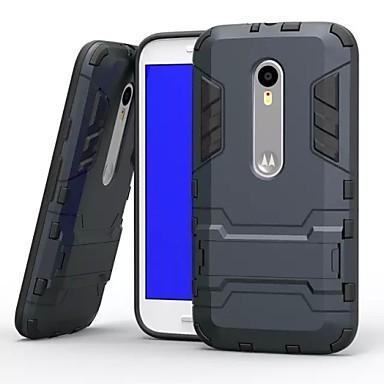 hoesje Voor Motorola Motorola hoesje Schokbestendig met standaard Achterkant Schild Hard PC voor
