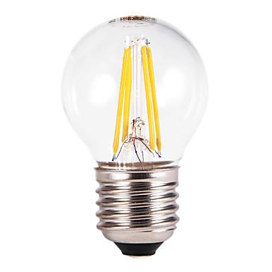 FSL® 1pc 350-550 lm E26/E27 LED-bollampen G60 4 leds COB Warm wit AC 220-240V
