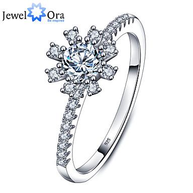 Γυναικεία Band Ring Ασημί 26 Ασήμι Στερλίνας Ζιρκονίτης Κυκλικό Κομψή Γάμου Πάρτι Καθημερινά Causal Κοστούμια Κοσμήματα