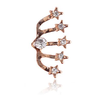 Clip oorbellen Kristal Legering Stervorm Zilver Gouden Sieraden Voor Feest Dagelijks Causaal 1 stuks