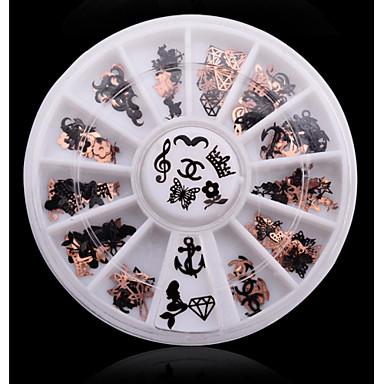1 Δέρμα & Metal Χειροτεχνίας Μοτίβο Flat Adhesive Pads Τύπωμα Κοσμήματα νυχιών Κλασσικό Lovely Πανκ Συμβουλές Τέχνης Νυχιών Σχεδίαση