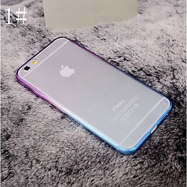 Capinha Para Apple iPhone 8 iPhone 8 Plus iPhone 6 iPhone 6 Plus iPhone 7 Plus iPhone 7 Galvanizado Transparente Capa traseira Côr Sólida