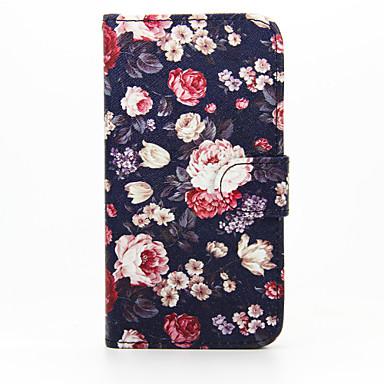 Voor Samsung Galaxy hoesje Portemonnee / Kaarthouder / met standaard / Flip hoesje Volledige behuizing hoesje Bloem PU-leer SamsungS6
