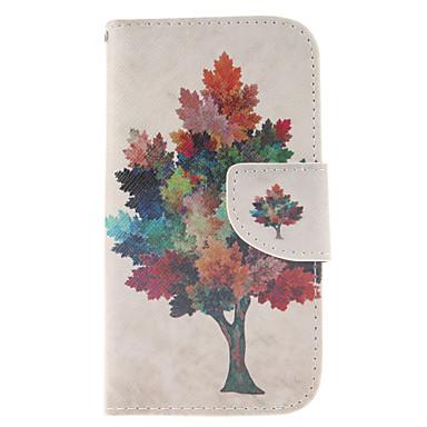 Para Samsung Galaxy Capinhas Carteira / Porta-Cartão / Com Suporte / Flip Capinha Corpo Inteiro Capinha Árvore Couro PU Samsung S3