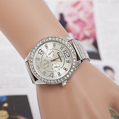 Homens Mulheres Casal Relógio de Moda Simulado Diamante Relógio Quartzo imitação de diamante suíço Designer Lega Banda Prata